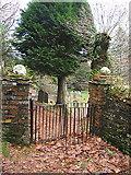 SN7673 : Rear entrance to Hafod churchyard by Rudi Winter