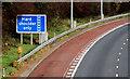 J2968 : Motorway bus lane sign, Dunmurry by Albert Bridge