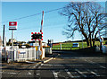NT1067 : Level crossing, Kirknewton station by michael ely