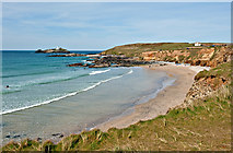 SW5842 : Beach at Godrevy Point by Dave Green