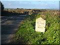 SW7023 : Milestone beside the B3293 at Garras by Rod Allday