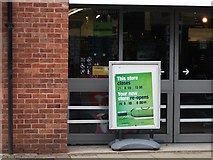 SP2871 : Sign outside the new Co-op store, The Square, Kenilworth by John Brightley