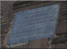 NO4030 : Plaque on the Wishart Arch, Dundee by Becky Williamson