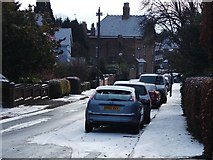 SP2871 : A light dusting of snow in Southbank Road by John Brightley