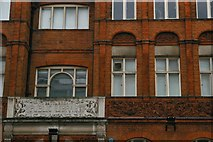TQ2775 : Lavender Hill Library (detail) by Christopher Hilton