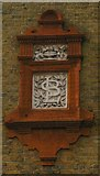 TQ2775 : Lavender Hill School (detail): School Board for London logo by Christopher Hilton