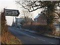SJ5143 : B Road Dwellings by J Scott