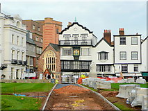 SX9292 : Exeter Cathedral Close by Jonathan Billinger