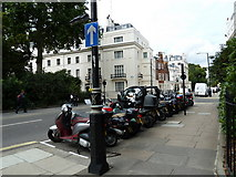 TQ2878 : Motorcycles in Chester Square by Basher Eyre