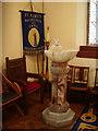NY3561 : The Parish Church of St Mary the Virgin, Rockcliffe and Cargo, Font by Alexander P Kapp