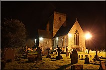 SU5887 : St Marys at night by Bill Nicholls