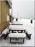TQ2704 : Tables, Western Esplanade by Simon Carey