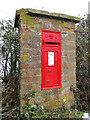 TM2789 : VR postbox in a brick pillar by Adrian S Pye