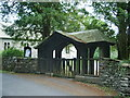 SD3785 : St Mary's Church, Staveley-in-Cartmel, Lych gate by Alexander P Kapp