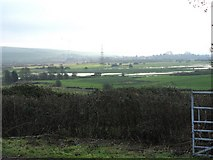 TQ1913 : View from the Downs Link path towards the River Adur floodplain by Dave Spicer