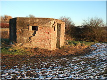 TF5315 : Pillbox, Church Lane, Terrington St John by Richard Humphrey