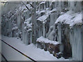 NS4272 : Icicles at Bishopton tunnels by Thomas Nugent