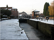 SK7953 : Newark: Town Lock by John Sutton