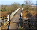 NS3881 : Footbridge over the A82 by Lairich Rig