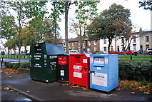 TQ7668 : Recycling point, Medway Park Leisure Centre by N Chadwick