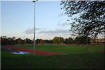 TQ7668 : Athletics Track, Medway Park by N Chadwick