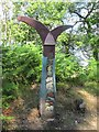 NN5705 : Milepost, NCN Route 7 by Richard Webb
