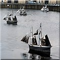 NZ3667 : 'Fleet' by Irene Brown, Captains Wharf by Andrew Curtis