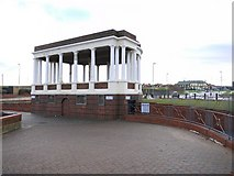 NZ3766 : Bandstand and lavatories, Sea Road, South Shields by Andrew Curtis
