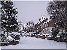 SO9096 : A snowy Balmoral Road in Penn, Wolverhampton by Roger  Kidd