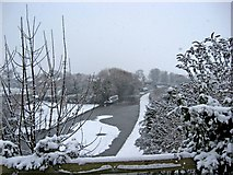 SO8171 : Snow on the Staffordshire & Worcestershire Canal by P L Chadwick