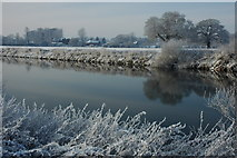 SO8442 : River Severn and Severn End by Philip Halling