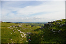SD8965 : Dropping into the dry valley north of Malham Cove by Christopher Hilton