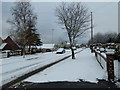 SU6705 : A snowy scene in Evelegh Road (4) by Basher Eyre