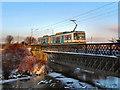SD7909 : Metrolink Bridge, Warth Fold by David Dixon