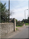 TM2850 : Lamppost in Station Road by Basher Eyre