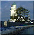 NS2075 : Cloch Lighthouse by Thomas Nugent