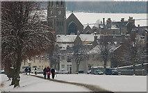NT2540 : Christmas morning on Tweed Green, Peebles by Jim Barton