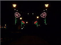 SZ0891 : Bournemouth: flower-shaped lights in the Lower Gardens by Chris Downer