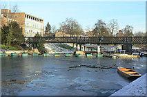 TL4459 : Jesus Green Lock and footbridge by Alan Murray-Rust