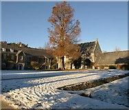 SX7962 : Dartington in the snow by Derek Harper