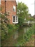 SU3477 : River Lambourn at Eastbury by Mick Crawley