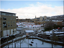 SE0925 : View towards the Broad Street Plaza development site in the snow by Phil Champion