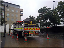 SE0925 : Removal of the Dovecote, Halifax Bus Station by Phil Champion