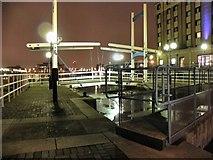 SJ8097 : Lock And Bridge, Salford Quays by David Dixon