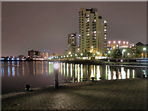 SJ8097 : Central Bay, Salford Quays by David Dixon