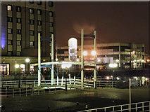 SJ8097 : Footbridge, Salford Quays by David Dixon