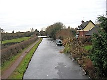 SO8171 : Frozen Staffordshire & Worcestershire Canal slowly melting by P L Chadwick