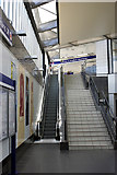 SE1632 : Bradford Interchange - stairs and escalator between the lower concourse, and the railway station concourse and platforms by Phil Champion