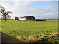 TM0793 : Shed in pasture south of Old Buckenham airfield by Evelyn Simak