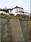 TM5075 : Sea defences at Gunhill Cliffs, Southwold by Evelyn Simak